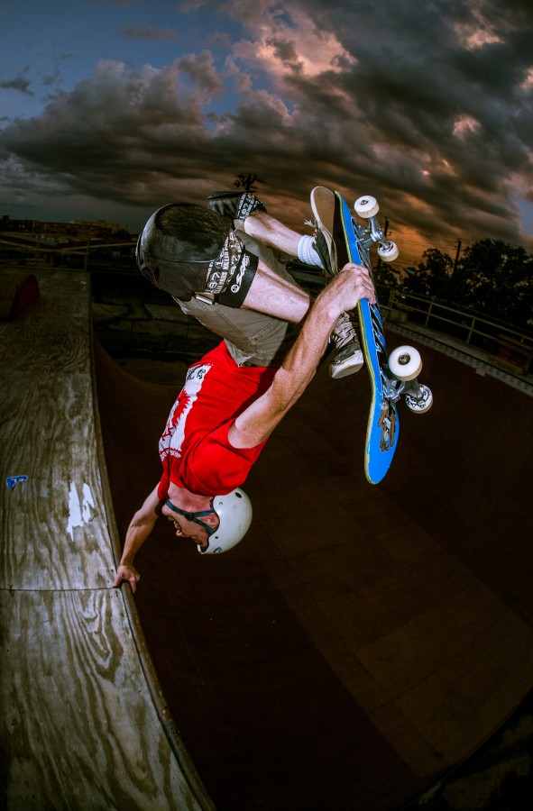 Mike Crum, invert, photo: Radballs Pete